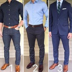 All Blue Which is your favorite style❓ 1 - casual, 2 - business casual, or 3 - dressy/formal❓T. All Blue Which is your favorite style❓ 1 - casual, 2 - business casual, or 3 - dressy/formal❓T. Best Business Casual Outfits, Business Casual Men, Men Casual, Smart Casual, Mode Masculine, Formal Men Outfit, Look Man, Herren Outfit, Mens Fashion