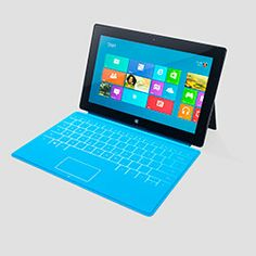 """""""The Surface, Microsoft's first tablet, feels like a Mercedes-Benz to me, people! The full-size keyboard built right into the cover makes work easy, the very smart kickstand makes watching a movie or Skyping a friend a delight, the less-than-a-pound-and-a-half weight makes a great alternative to a laptop, and the many other features make it fun for work and play. Now, that's a wowser!""""--Oprah"""