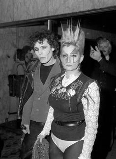 Credit: PA Adam Ant and Jordan make for unlikely guests at the premiere of 'Saturday Night Fever' in 1977.