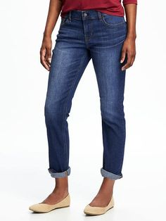 Old Navy Boyfriend style jeans $35---From reviews can size down.