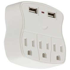iLive 3-Outlet and 2 USB Port Charger-IAC46W - The Home Depot