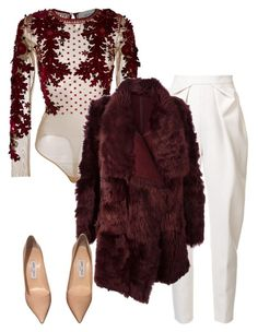 Untitled #6535 by stylistbyair on Polyvore featuring polyvore mode style Amen Meteo by Yves Salomon Delpozo Jimmy Choo fashion clothing