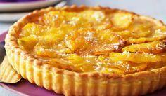 Tarte flan ananas coco au thermomix. Voici une délicieuse recette de Tarte au flan ananas et coco, facile et simple a réaliser au thermomix. Thermomix Desserts, Paella, Apple Pie, Quiche, Mousse, Entrees, Sweets, Baking, Health