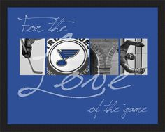 8 x 10 For the Love of the Game St Louis Blues  by MarcinkDesigns, $25.00