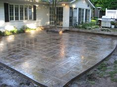 Stamped Concrete. This is really great. Would love to have a patio ...
