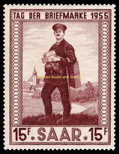 EBS Germany 1955 Saar Saarland Stamp Day Tag der Briefmarke Michel 361 MNH**   eBay
