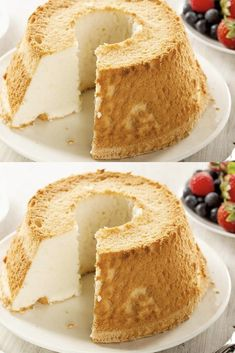 Ultra soft angel cake with Easy Recipe pies pies recipes dekorieren rezepte Banana Bread Recipes, Easy Cake Recipes, Easy Desserts, Dessert Recipes, Food Cakes, Cupcake Cakes, Sweet Pumpkin Recipes, Angel Cake, Pastry Cake