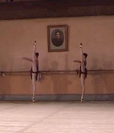 """ Elena Vostrotina and Alina Somova Vaganova Ballet Academy graduation exam (2003) """