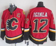 "$35.88 at ""MaryJersey""(maryjerseyelway@gmail.com) Flames 12 Jarome Iginla Red with Black CCM Throwback Stitched NHL Jersey"