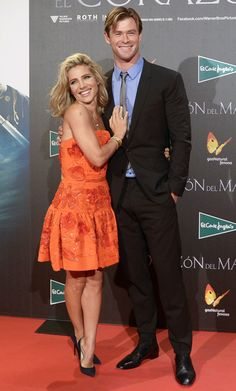Chris Hemsworth and Elsa Pataky are too cute!
