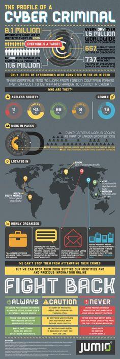 The profile of a cyber criminal #infografia #infographic #internet