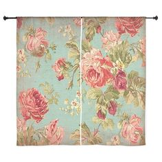 Beautiful Vintage rose floral Curtains on CafePress.com