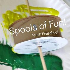 Spools of Fun by Teach Preschool