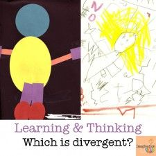 linear vs. divergent thinking and learning --> we need more divergent thinking in the classroom!!