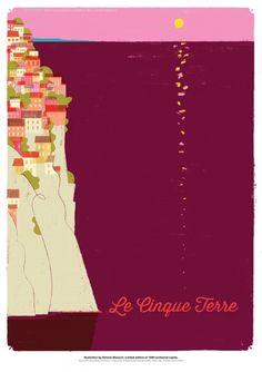 LE CINQUE TERRE - FINE ART GRAPHIC -
