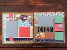 Hello everyone! I am excited to share these cute scrapbook pages we made at my Scrapbook Club last night featuring the  Lift Me Up Stamp ...