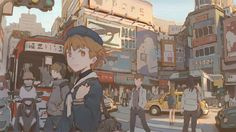 Kai Fine Art is an art website, shows painting and illustration works all over the world. Art And Illustration, Character Illustration, Aesthetic Anime, Aesthetic Art, Anime Manga, Anime Art, Art Environnemental, Environmental Art, Anime Scenery