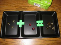 Miss Kindergarten: DIY Dollar store math manipulative trays