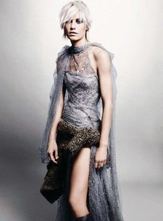 Harper's Bazaar UK Oct. 2011- 'Go With the Flow'  Delfine Bafort - Model  Jason Kibbler - Photographer  Vanessa Coyle - Fashion Editor/Stylist  James Pecis - Hair Stylist  Ozzy Salvatierra - Makeup Artist