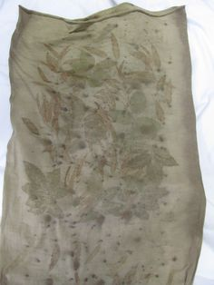 Ecoprint auf Wolle Ursula Pauly