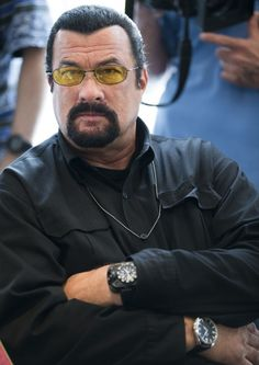 Steven Seagal says he may run for Ariz. governor File- This June file photo shows actor Steven Seagal looking on as he waits for a news conference of U. Aikido, Kendo, Action Movie Stars, Gta San Andreas, Steven Seagal, Portia De Rossi, The Expendables, Martial Artist, Star Wars
