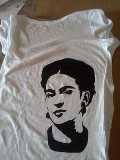 Frida Kahlo Stencil T-shirt by MarcusHimura