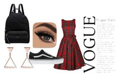"""""""Plaid Skater Girl"""" by flowergurll54 ❤ liked on Polyvore featuring Vans and Radley"""
