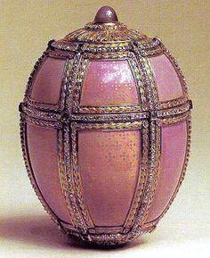 Danish Palace Fabergé Egg,1890,  presented by Alexander III to Czarina Maria Fyodorovna