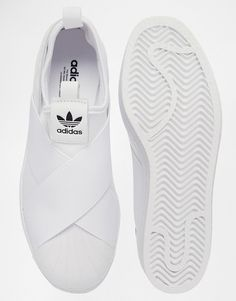 Image 3 of adidas Originals Superstar Slip On White Trainers, omg love these