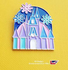 Our order book 15 packed with designer themed badges this 'flower palace' has nickel plated detailing, very attractive indeed - 'best price' guarantee. Name Badges, Pin Badges, Make Your Own Badge, Custom Badges, Order Book, Charity, Palace, Plating, Enamel