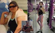 """Molly Lowe, 28, was up to 267lbs when she decided enough was enough and she needed to get healthy. The Florida resident now weighs 161lbs at 5'9"""" and loves to train with weights at the gym."""