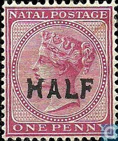 1895 - Natal - Queen Victoria Victoria 1, Queen Victoria, Union Of South Africa, Stamp World, Crown Colony, Old Stamps, Stamp Collecting, Postage Stamps, Colonial