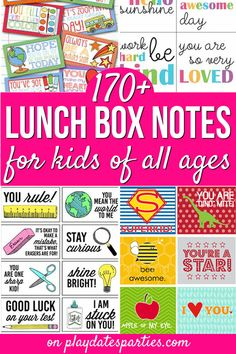 Want to give your kids a smile at school this year? Try sending one of these printable lunch box notes for kids of all ages. Don't forget to check out the Kindergarten and pre-school notes, blank notes options, and the fun lunch box jokes too!