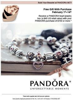 Pandora - I love the pink heart and the Together Forever scroll!