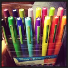 Quickest way to a teacher's heart?  FLAIR PENS!