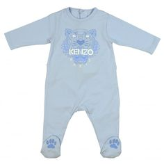 af27c24ac09ee Kenzo Boys Blue Play-Wear with Tiger and Paw Print. Available now at www