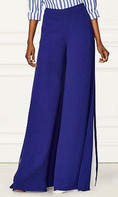 Adele Silk Wide-Leg Pant - Collection Apparel Pants - RalphLauren.com