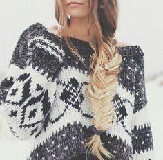 A cozy winter sweater