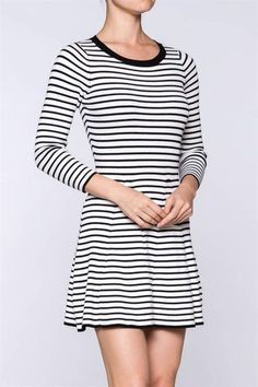 Striped Knit Dress - main