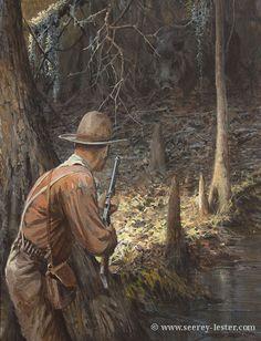 Not Just Wildlife Art of John Suzie Seerey-Lester Wildlife Paintings, Wildlife Art, Outdoor Art, Outdoor Life, Whitetail Deer Pictures, Hunting Art, West Art, Cowboy Art, Le Far West