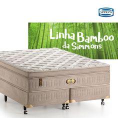 """A linha """"Simmons Bamboo"""" cresceu e, hoje, reacende versões de elegância ímpar. Os colchões têm tecido de bambu e um toque inacreditavelmente suave. É claro, as tradicionais molas ensacadas """"Beautyrest"""" da Simmons também fazem toda a diferença. Descubra esse conforto 😀 #colchõesbotafogo #colchõesbotafogoipanema #colchões #sealy #simmons #tempur #epeda #stearns&foster #ipanema #rio"""