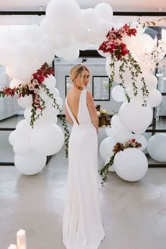 Balloon and flower decor