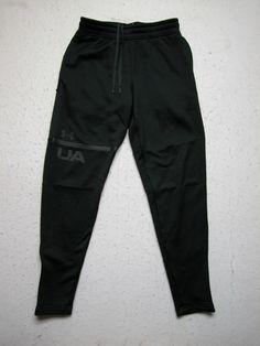 Under Armour Black Cold Gear Drawstring Pants Sz S Black Pockets (Measure  27x29) #