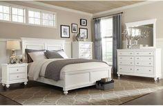 Bedroom Furniture - Bridgeport 6-Piece Queen Bedroom Set – White