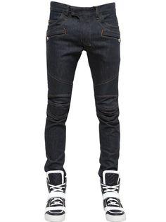 Balmain+16cm+Skinny+Cotton+Denim+Jeans+on+shopstyle.com