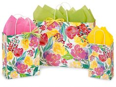 Watercolor Garden Blooms Bag Assortment, 125 Pack