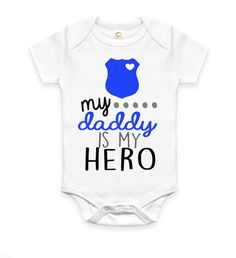 1ad80e66 Items similar to FREE SHIPPING! Police Officer Gift, Police Officer Dad T- Shirt, New Dad Gift, First Father's Day Gift, Hero Dad on Etsy