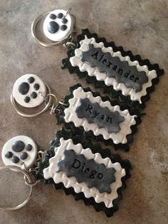 Custom Made Personalized Keychains by LunaBlueGifts on Etsy