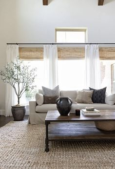 home living room ideas ~ home living room ; home living room modern ; home living room cozy ; home living room colors ; home living room small ; home living room ideas ; home living room grey ; home living room modern small spaces My Living Room, Home And Living, Dark Wood Floors Living Room, Small Living, Natural Living Rooms, Living Room Pottery Barn, Decorating Ideas For The Home Living Room, Modern Living Room Decor, Blinds For Windows Living Rooms