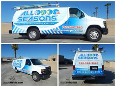 All Seasons looks amazing with this new van wrap installed by Palm Desert, CA